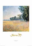 Oat Fields Plakater av Claude Monet