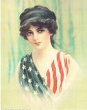 Lady America (USA Flag) Print