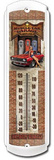 Muscle Car Garage Indoor/Outdoor Thermometer Plechová cedule