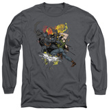 Long Sleeve: The Dark Knight Rises - Fight For Gotham T-Shirt
