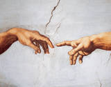 Creation of Adam Posters by  Michelangelo Buonarroti