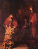 Return of the Prodigal Son Posters par Rembrandt van Rijn 