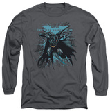 Long Sleeve: The Dark Knight Rises - Blue Crackle Shirts