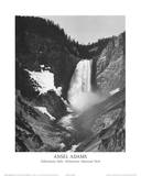 Yellowstone Falls Yellowstone National Park Print by Ansel Adams