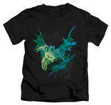 Youth: The Dark Knight Rises - Batarang (Green) T-Shirt