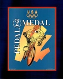 Looney Tunes Olympics Pedal 2 Medal Daffy Duck Posters