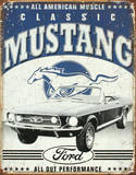 Classic Mustang Cartel de chapa