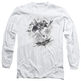 Long Sleeve: The Dark Knight Rises - Penciled Knight T-Shirt