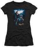Juniors: The Dark Knight Rises - Bat & Cat T-Shirt