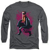 Long Sleeve: The Dark Knight Rises - Catwoman Roses T-Shirt