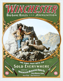Winchester Big Game Rifles and Ammunition Hunter with Ram Tin Sign