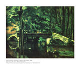 The Bridge at Maincy Near Melun Print by Paul Cézanne