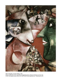 I and the Village Posters tekijänä Marc Chagall