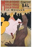 Moulin Rouge Art by Henri de Toulouse-Lautrec