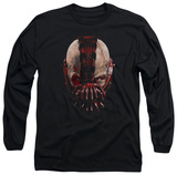 Long Sleeve: The Dark Knight Rises - Bane Mask T-Shirt