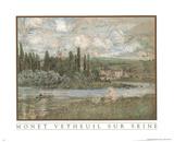Vetheuil Sur Seine Print by Claude Monet