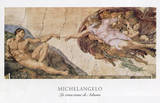 La Crezione di Adamo The Creation of Adam Kunst af Michelangelo Buonarroti,