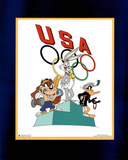 Looney Tunes Olympics Bugs Taz & Daffy on Medal Stand Photo