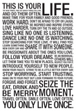 This Is Your Life Motivational Poster Print