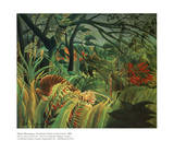Surprised Storm in the Forest Pósters por Henri Rousseau