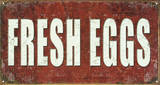 Fresh Eggs Cartel de chapa