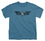 Youth: The Dark Knight Rises - Cracked Glass Logo T-shirts
