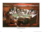 Poker Sympathy Dogs Playing Poker Posters by Cassius Marcellus Coolidge