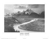 The Tetons Snake River Plakater av Ansel Adams