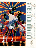 Olympic Handball, c.1996 Atlanta Sports Prints by Hiro Yamagata