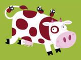 La vache Posters par Nathalie Choux