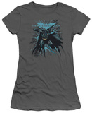 Juniors: The Dark Knight Rises - Blue Crackle T-shirts