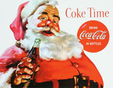 Coca Cola Coke Santa Claus Christmas Plaque en métal