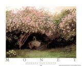 Beneath the Lilacs Affiches par Claude Monet