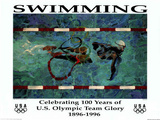 Swimming Celebrating 100 Years U.S. Olympic Team Posters by Robert Heindel