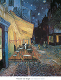Cafe Terrace on Place du Forum Arles Posters af Vincent van Gogh