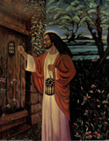 Black Jesus Christ Knocking religious Posters