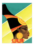 African Woman in Profile Posters by Frank Mcintosh
