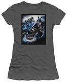 Juniors: The Dark Knight Rises - The Batwing Rises T-shirts