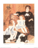Twin Sisters Jumelles Plakater af Pierre-Auguste Renoir