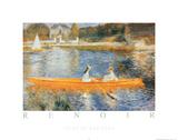 Seine at Asnieres Plakat av Pierre-Auguste Renoir
