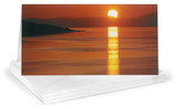 Kent Miles Sunset Lan Ha Bay Vietnam Panoramic Greeting Cards 12 Per Package Note Card Sets
