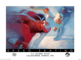 U.S. Olympic Team Speed Skating Lillehammer, c.1994 Poster by Bill Sienkiewicz