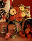 Flowers and Apples (Kitchen) Prints
