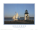 Success It is by Taking Chances that We Succeed Lighthouse Motivational Plakaty