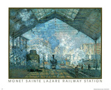 St. Lazare Railway Posters by Claude Monet