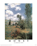 Summer Day Prints by Claude Monet