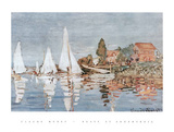 Boats at Argenteuil Posters by Claude Monet