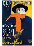 Eldorado Aristide Bruant Prints by Henri de Toulouse-Lautrec