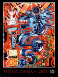 Dragon Beijing 2008 Olympics Posters by Mark T. Smith