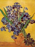 Lirios Lámina por Vincent van Gogh